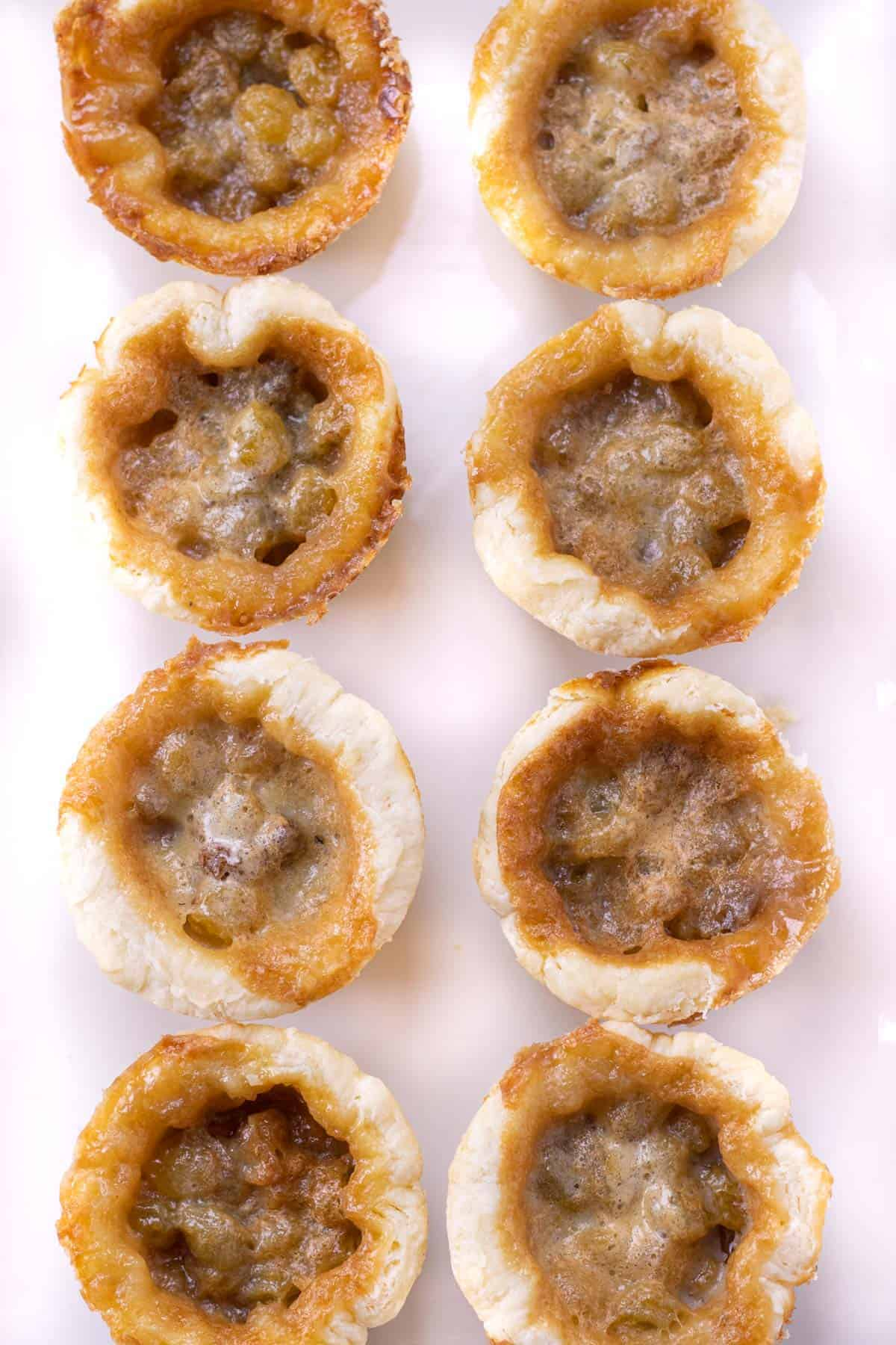 Grandma's Butter Tarts on a serving tray