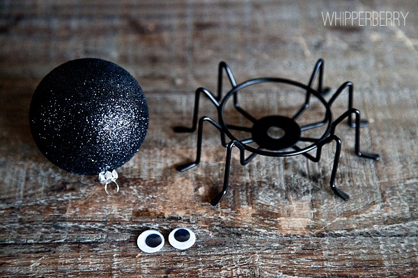 supplies for a spooky spider