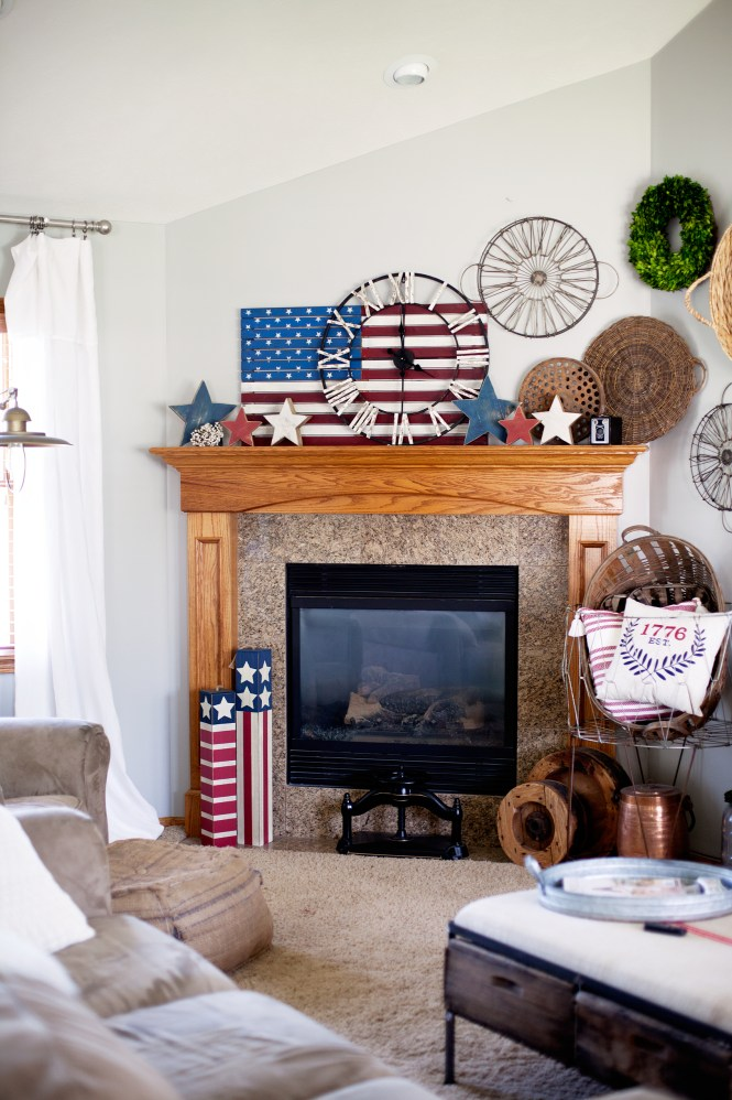 Red White And Blue Decor With The Summer Months Rolling In It S Time