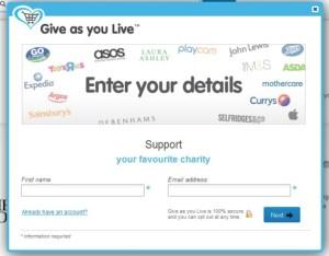 Give as you live screenshot 1