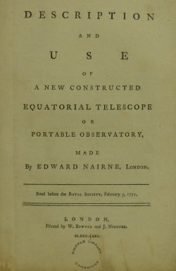 Equatorial telescope title page
