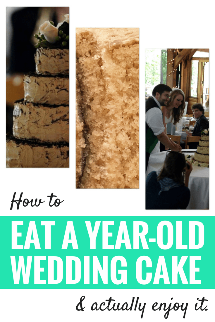 How to eat a year-old wedding cake graphic
