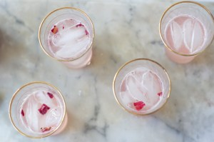 Rhubarb and Rosewater Syrup
