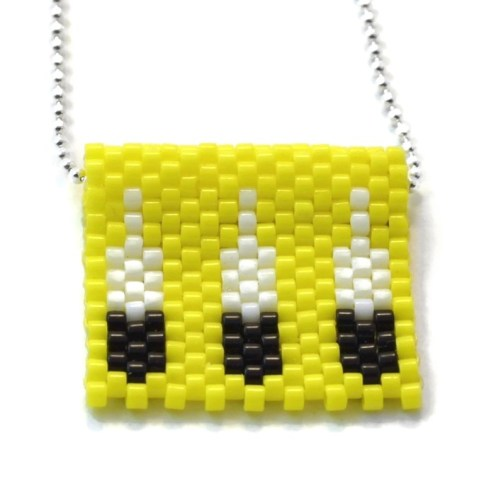 YELLOW FEATHER NEACKLACE