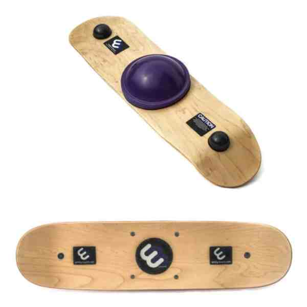 purple center with skateboard grip