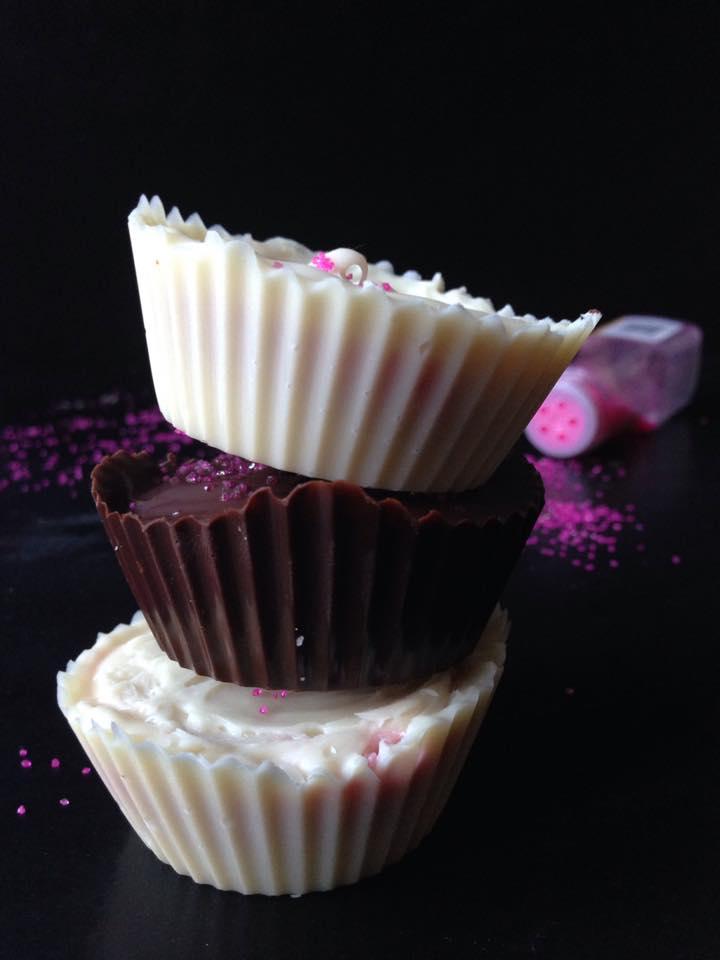 Jumbo Chocolate-Covered Strawberries & Cream Cups {Vegan + GF!} | Whisk and Shout