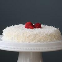 """Strawberry Coconut """"Wacky"""" Cake"""