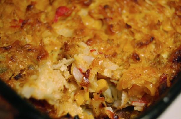 Spicy Crab, Corn and Artichoke Dip  Recipe
