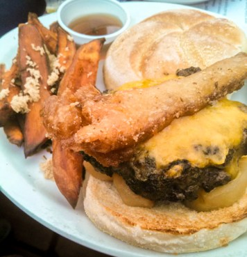 Bart and Urby's Burger with Tempura Bacon