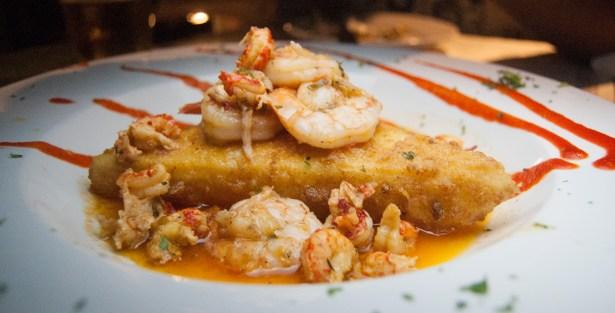 Shrimp and Grits Cake - South Carolina