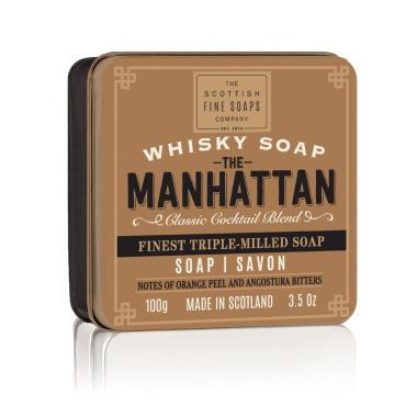 The Manhattan - Handtvål i en snyggt plåtetui