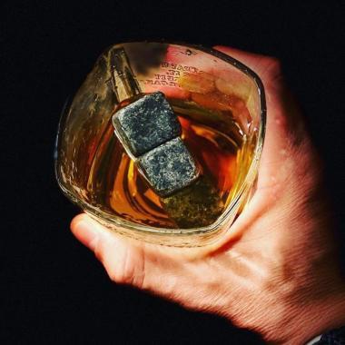 Whiskey stenar - Melerad natursten - 9st