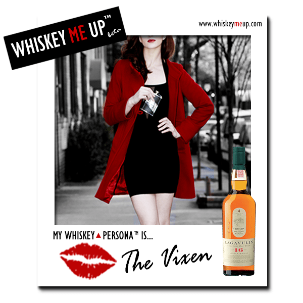 Whiskey Me Up Whiskey Persona Polaroid for Vixen with Lagavulin 16 (front)