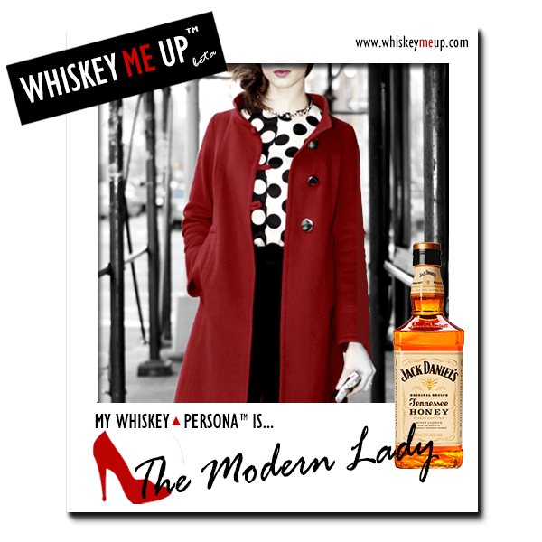 Whiskey Me Up Whiskey Persona Polaroid for Modern Lady with Honey Jack Daniel's (front)