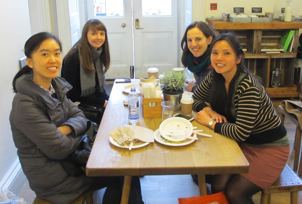 Lunch with friends @ Tom's Deli, Somerset House