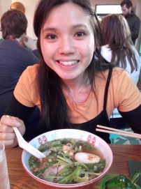 Me and my bowl of rice noodles