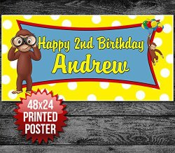 Curious George Personalized Banner