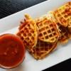Fried Waffle Mozzarella with Marinara Sauce