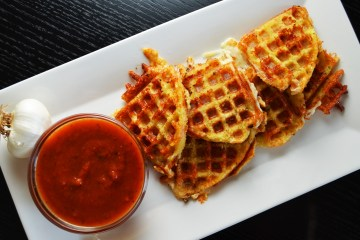 Fried Waffle Mozzarella with Marinara Sauce