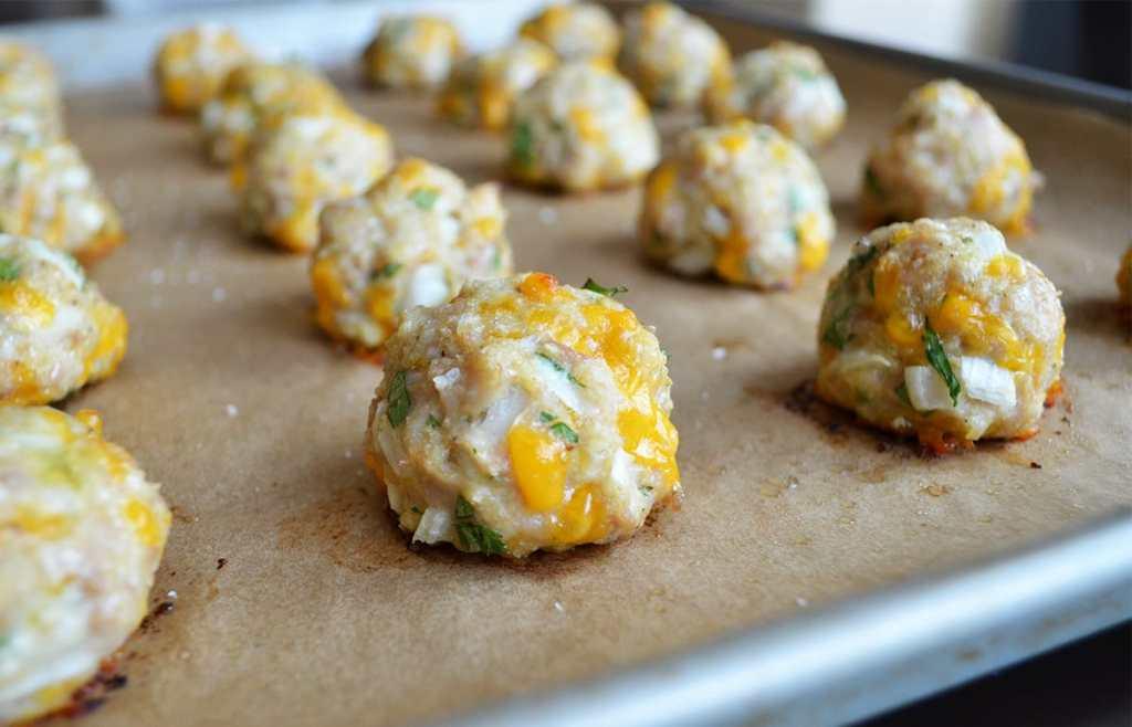Bacon Ranch Cheddar Chicken Meatballs