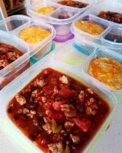 Turkey Chili Meal Prep
