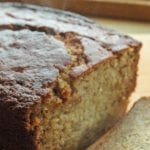 The best banana bread recipe with cracked, crispy crust and moist insides