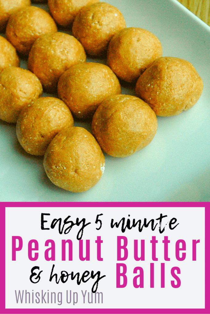 Easy five minute peanut butter balls