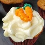 Easy Moist Carrot Cake Cupcakes with Cream Cheese Frosting