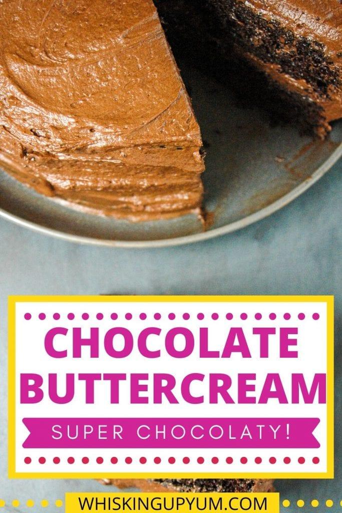 Chocolate buttercream made from scratch