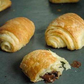 Gooey chocolate croissants recipe