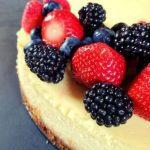 Creamy Classic Cheesecake Recipe with Berry Sauce - No Cracks!