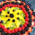 Irresistible Easy Sugar Cookie Fruit Pizza for a crowd that everybody will love!