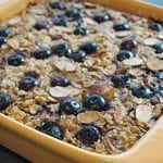 Healthy Blueberry Baked Oatmeal