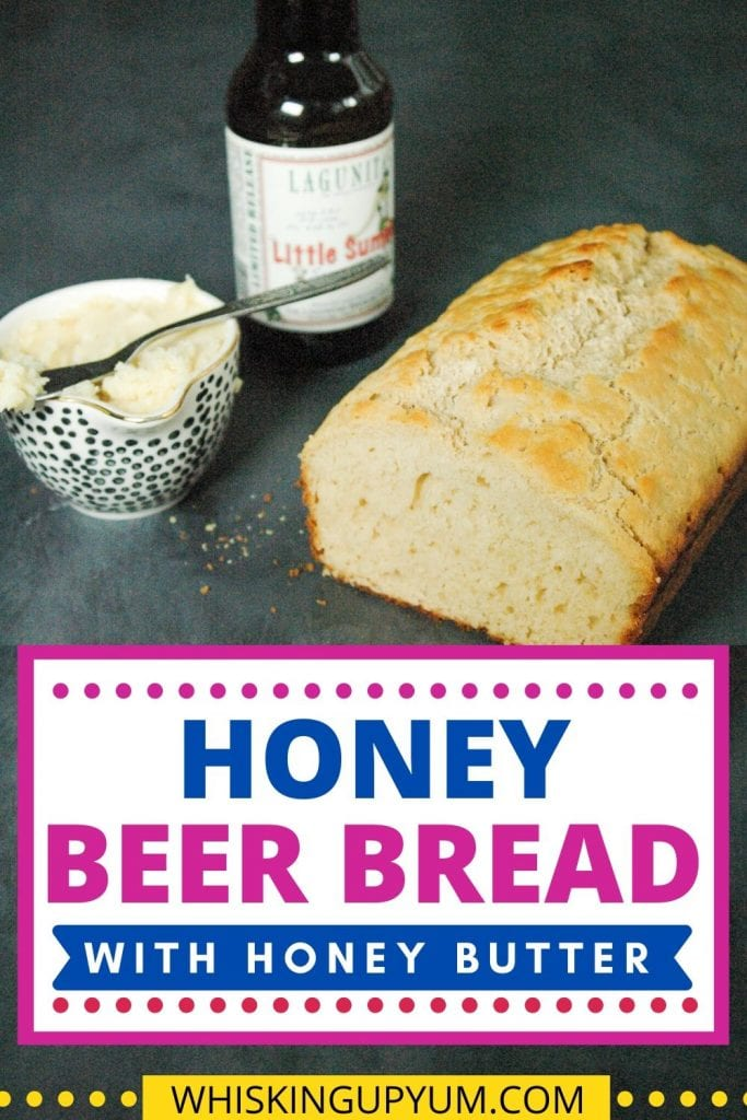 Delicious honey beer bread with honey butter