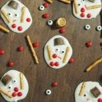 Melted Snowman Almond Bark