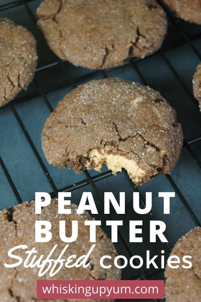 Easy peanut butter stuffed chocolate cookies