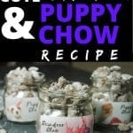 puppy chow in glass jars