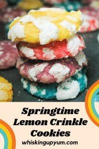Springtime Lemon Crinkle Cookies