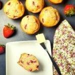 Quick and Easy, Moist Strawberry Yogurt Muffins