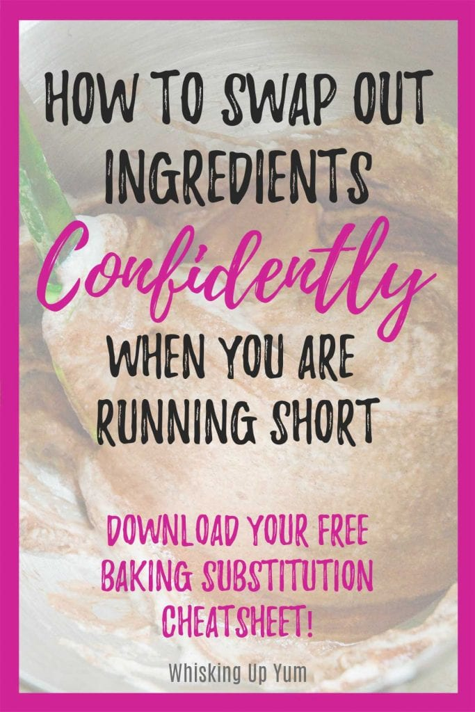 Learn how to swap out ingredients confidently while baking with this list of common baking substitutions