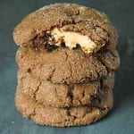 Peanut Butter Stuffed Chocolate Cookies