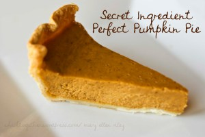 Pumpkin pieCR
