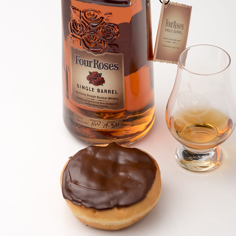 Four Roses Bourbon Single Barrel | Boston Creme - WhiskyAndDonuts.com - Whisky And Donuts