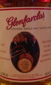 "The Glenfarclas ""Last of the Millennium Cask"" bottling."