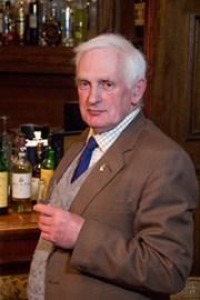 Retired Highland Park worker Davie Reid at the Lynnfield Hotel pub, April 9, 2013. Photo © 2013 by Mark Gillespie.