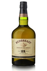 Redbreast 21 Year Old Single Pot Still Irish Whiskey. Image courtesy Irish Distillers.