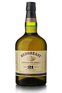 Redbreast 21 Year Old Single Pot Still Irish Whiskey. Image courtesy Irish Distillers.