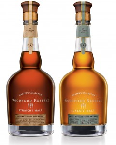 Woodford Reserve's Classic Malt and Straight Malt single malt Kentucky Whiskies. Image courtesy Brown-Forman.