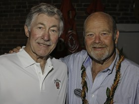 Baker Beam (L) and Fred Noe, September 20, 2013 in Bardstown, KY. Image © 2013 by Mark Gillespie.