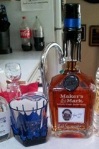 A bottle of the Maker's Mark Jason Ellis memorial edition in the Bardstown Police headquarters. Photo courtesy WDRB-TV.